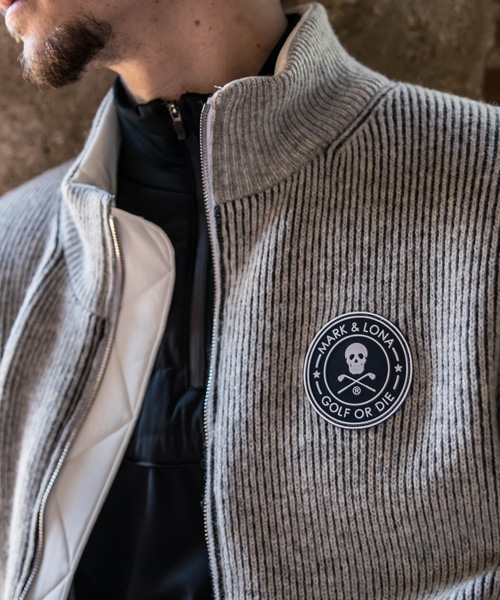 Circle Icon Wind Stop Zip Sweater