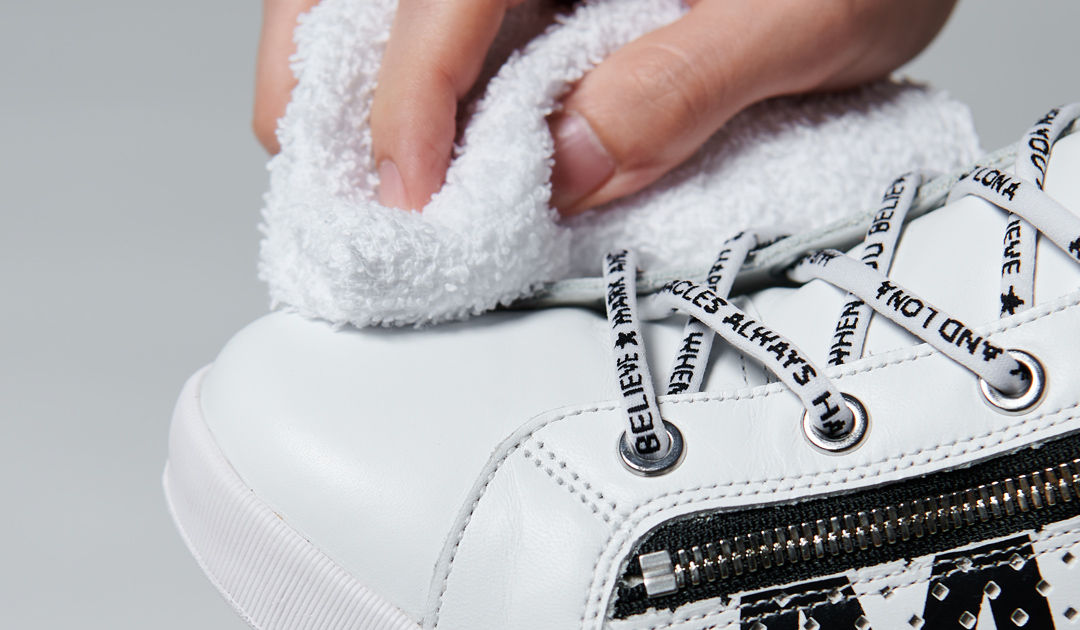 Wipe clean with cloth or towel until polished.