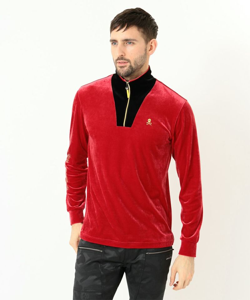 Trape Velour Long Sleeve Top | MEN