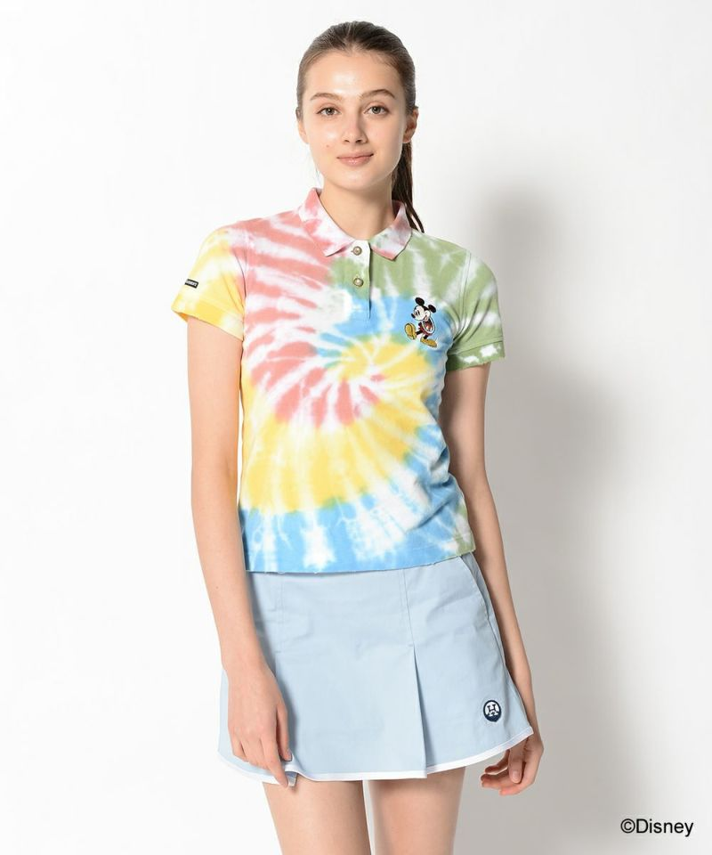 Aloha Mickey Tie dye Polo | WOMEN
