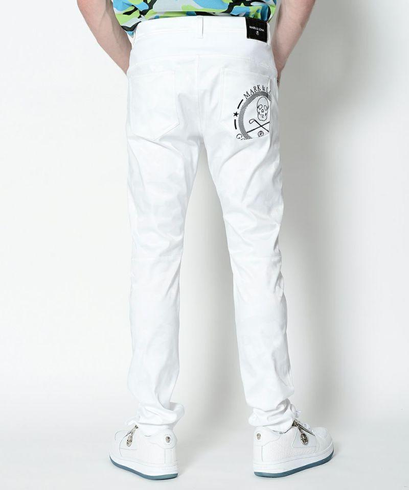 WHITE(Model:身長182cm,チェスト96cm,ウエスト77cm,着用サイズL)