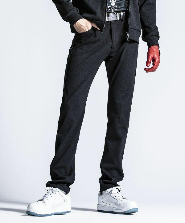 BLACK(Model:身長186cm,チェスト94cm,ウエスト76cm,着用サイズL)
