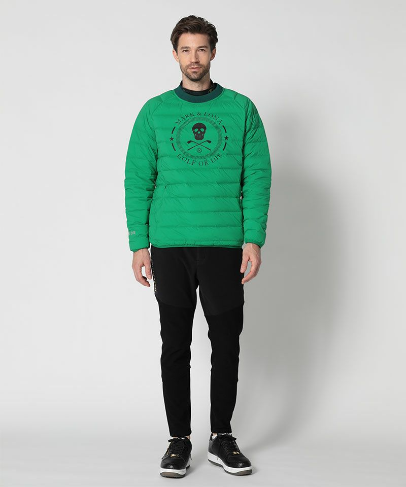 GREEN(Model:身長185cm,チェスト94cm,ウエスト76cm,着用サイズL)