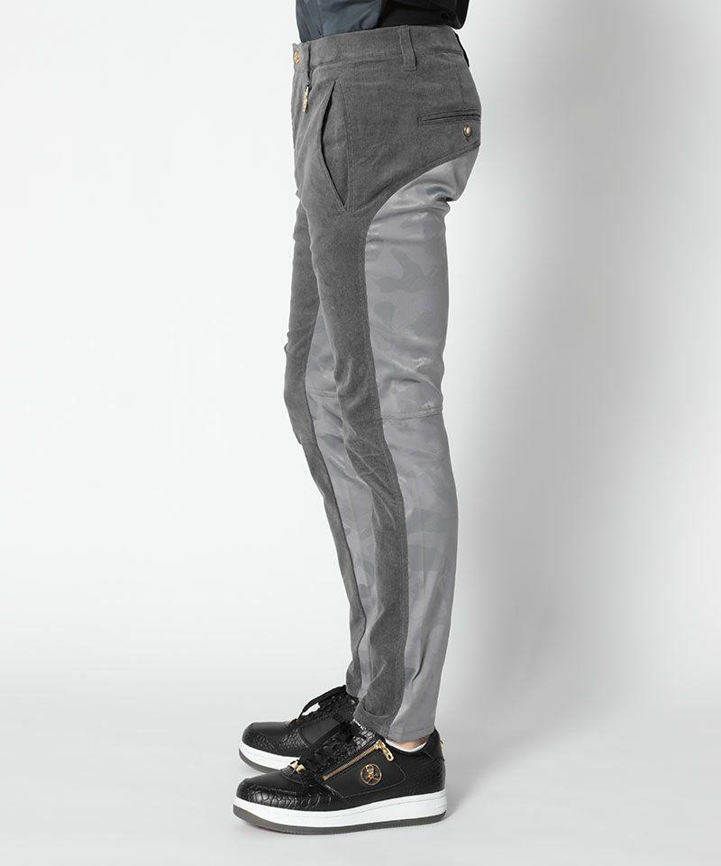 GREY(Model:身長185cm,チェスト94cm,ウエスト76cm,着用サイズL)