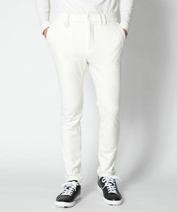 WHITE(Model:身長185cm,バスト94cm,ウエスト78cm,ヒップ94cm,着用サイズL)